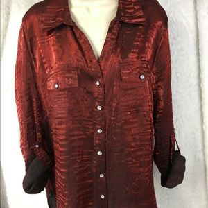 Elementz Size 2X Blouse Shirt Long Sleeve